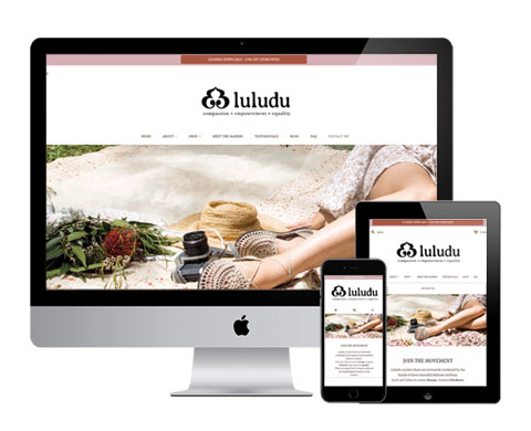 luludu web design mock up
